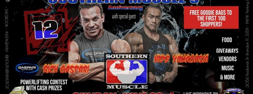 12 year Anniversary & Powerlifting contest hosted by Gaspari