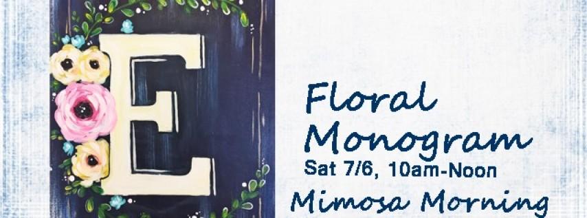 Mimosa Morning-Floral Monogram