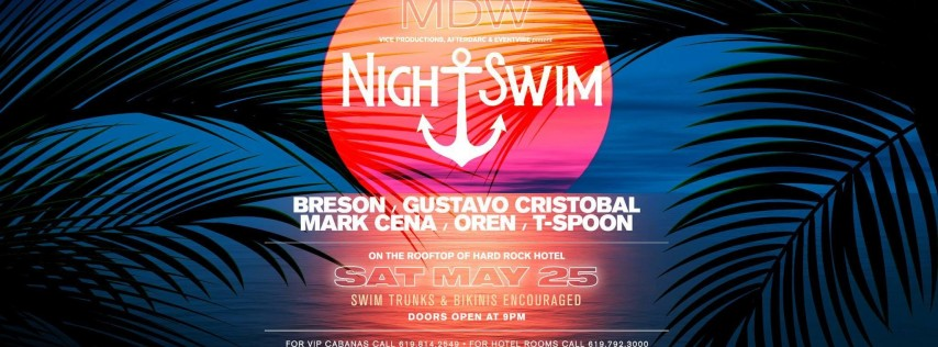 Limited Free Entry • Night Swim Pool Party x Eventvibe @ the Hard Rock