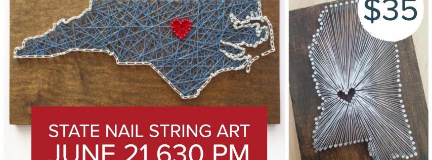 State Nail String Art