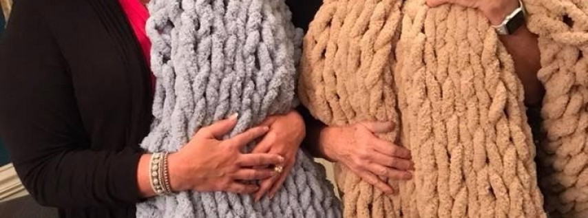 Christy's Chunky Knit Blanket Party