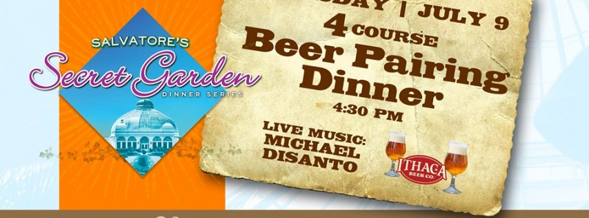 Salvatore's Secret Garden Beer Pairing Dinner | July 9