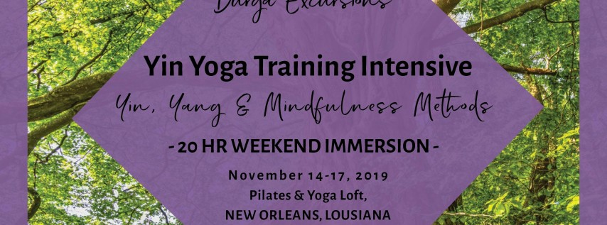 Yoga Training Intensive: Yin, Yang, & Mindfulness Methods- 20 HR