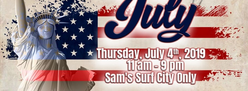 4th of July Celebration at Sam's Fun City!