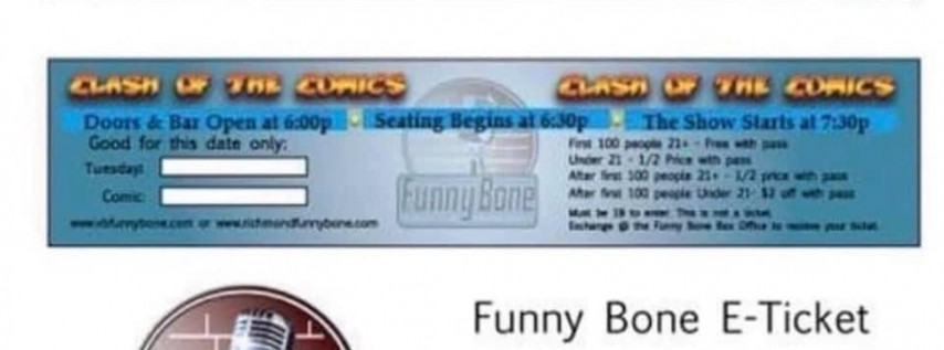 Free tickets to VB Funny Bone July 2nd