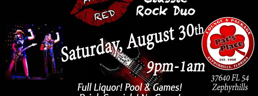 April Red is Back to Rock Pat's Place Bar in Zephyrhills!
