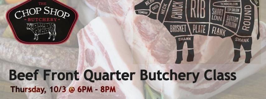Beef Front Quarter - October 3rd