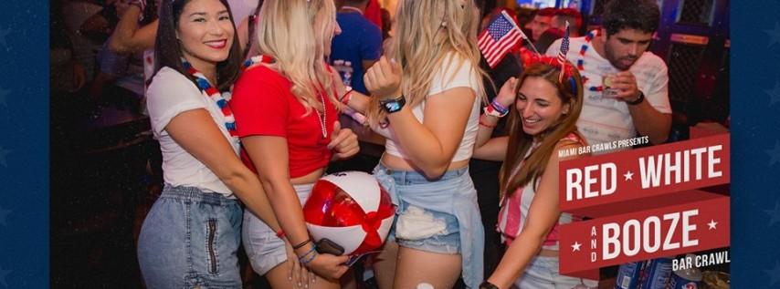 4th Annual Red, White, & Booze Bar Crawl in Brickell