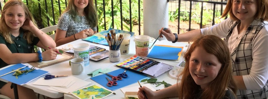 Art Class for Kids Ages 9-12   Tuesdays in July
