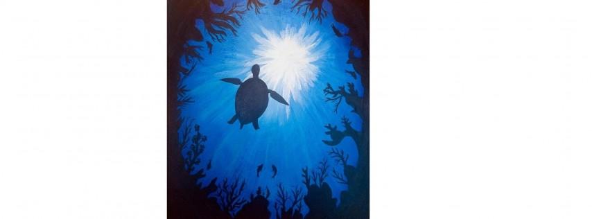Brushes & Brews - Sea Turtle