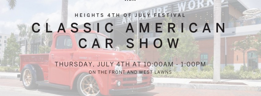 4th of July - Classic American Car Show