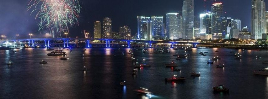 'FIRE & ICE' 4th of July Fireworks Viewing from the Waters of Biscayne Bay aboard our BLACK ICE or ICE Luxury Yachts