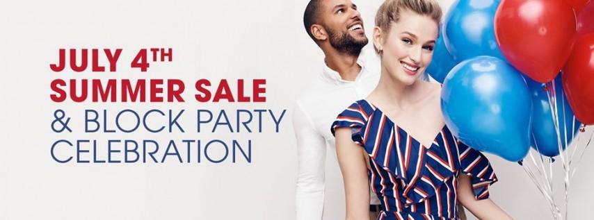July 4th Weekend Sale & Block Party Celebration