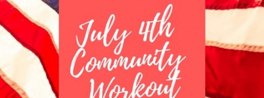 July 4th Community Workout