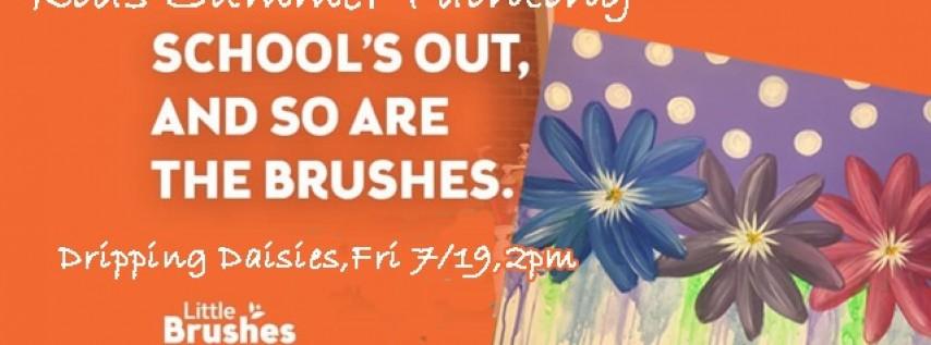 Kids Summer Paint-Dripping Daisies