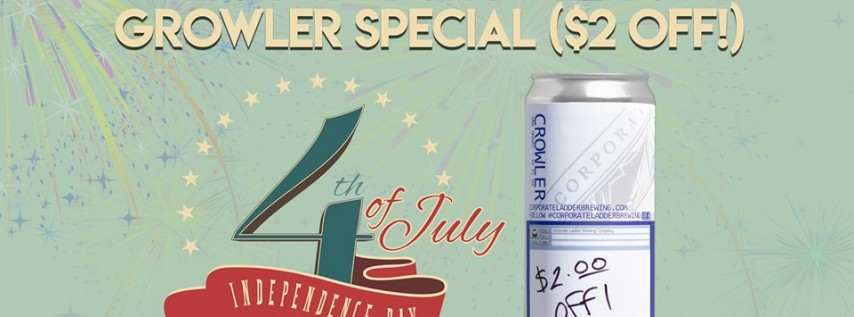July 4th Crowler & Growler Special