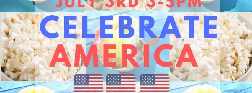 Celebrate America with Free Snow cones!!