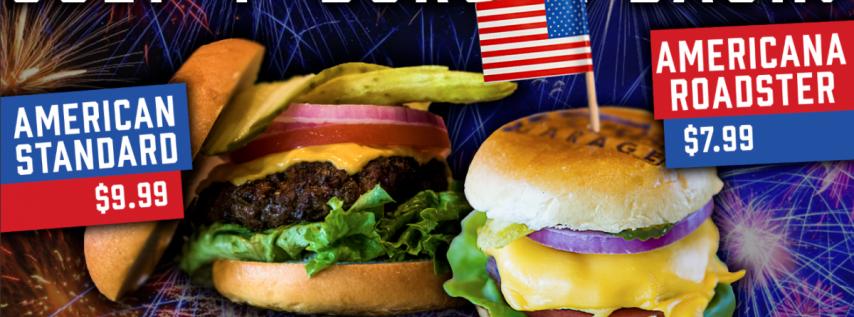 July 4th Burger Bash at Ford's Garage!
