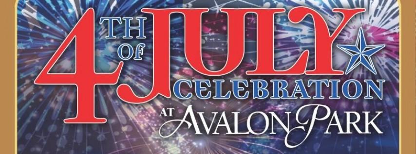 4th of July Celebration at Avalon Park!