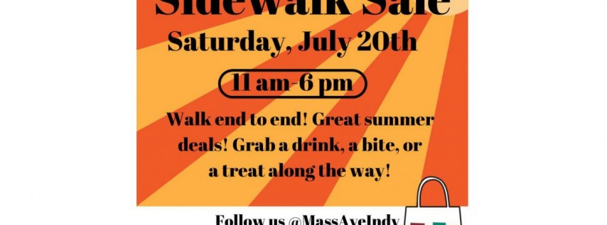 Mass Ave Sidewalk Sale