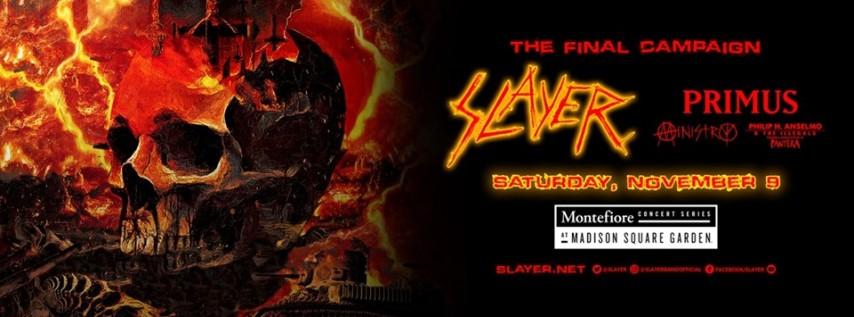The Final Campaign: Slayer, Primus, Ministry, Philip H Anselmo