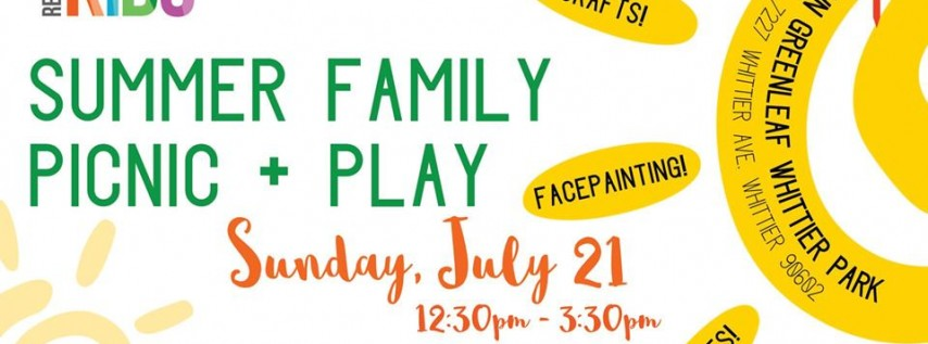 Summer Family Picnic + Play