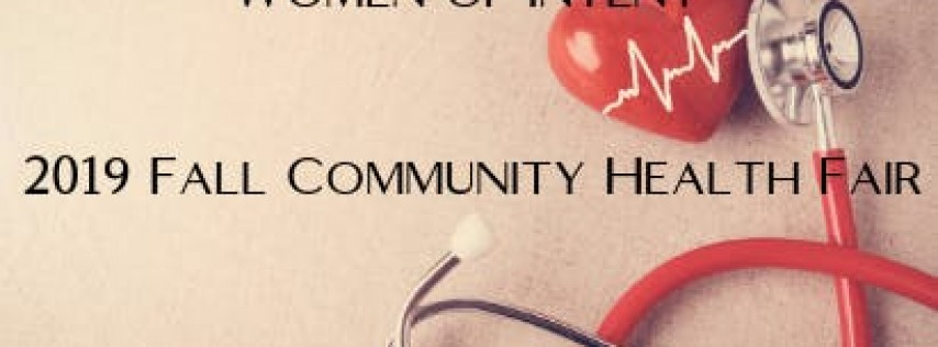 SOW365/Women of Intent 2019 Fall Community Health Fair