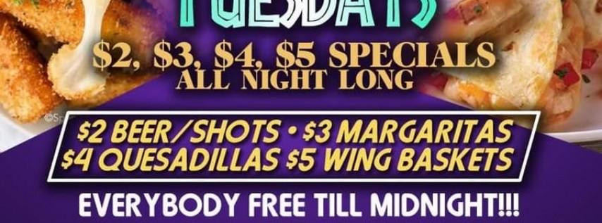 $1 IslandBreeze- $2 Quesadillas Tuesdays in July