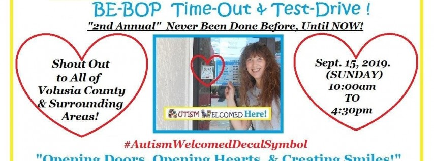 FOLLOW The Autism Welcomed Decal Symbol2nd Be-Bop Time-Outs &Test-Drives!