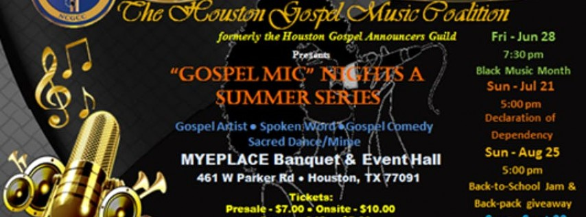 'Gospel Mic' Nights - A Summer Series