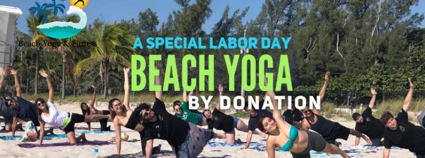 Labor Day Beach Yoga by Donation