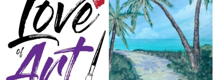 Paint and Sip Class: Palm Tree Path