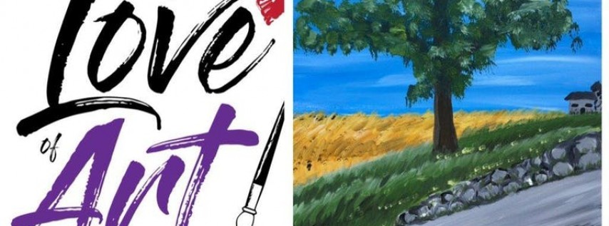Paint and Sip class: Midwest Wheat Field