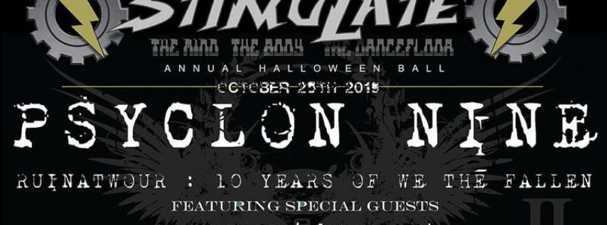 STIMULATE Annual Halloween Ball with PSYCLON NINE
