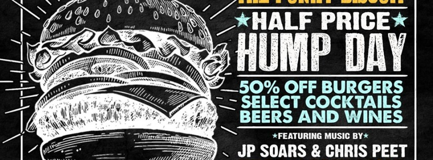 Half Price Hump Day Featuring JP Soars & Chris Peet at The Funky Biscuit