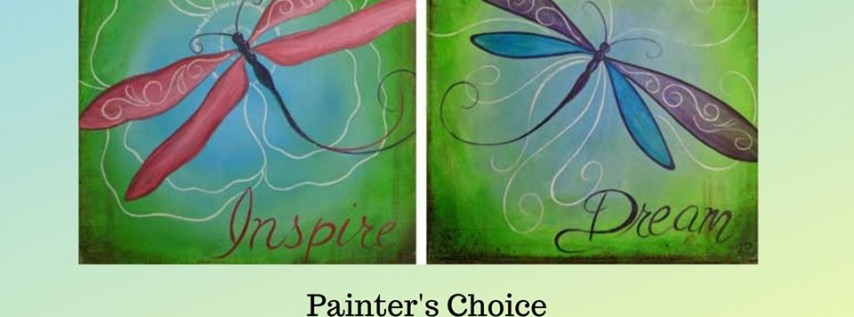 Sip and Paint Choice of Dragonflies