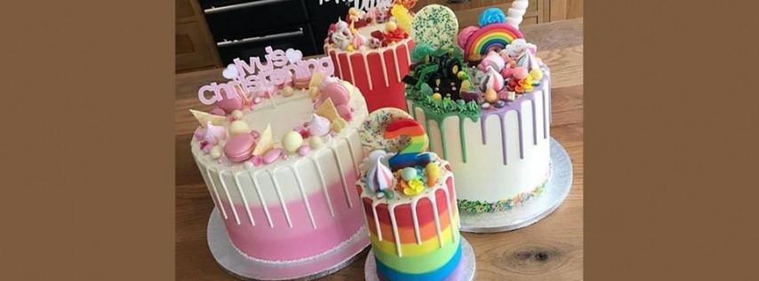 Fabulous Buttercream Creations - Rainbow Drip Cakes - Candy Shop