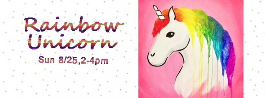 Family Paint Day-Rainbow Unicorn