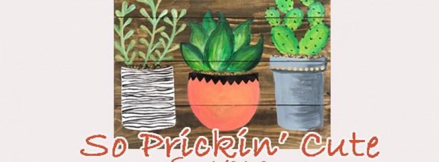 Wood Pallet-So Prickin' Cute