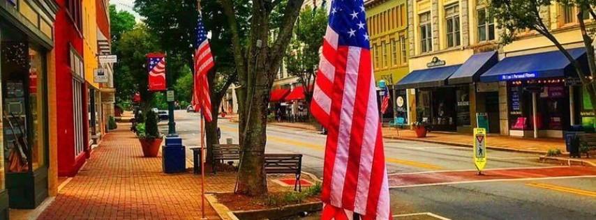 Flag Display Labor Day