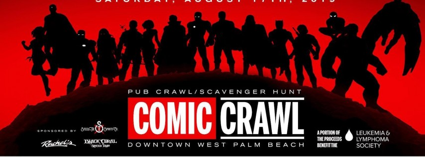Comic Crawl Pub Crawl & Scavenger Hunt // Downtown WPB