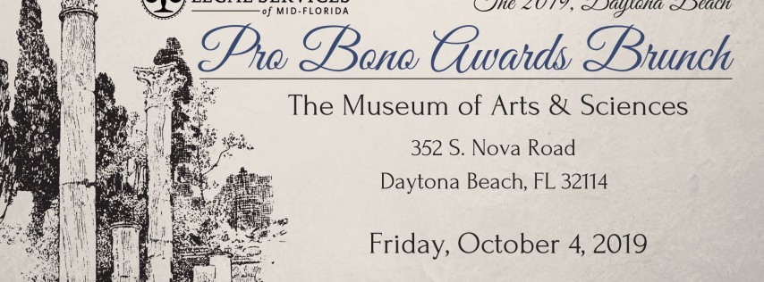 Volusia-Flagler Pro Bono Awards Brunch 2019