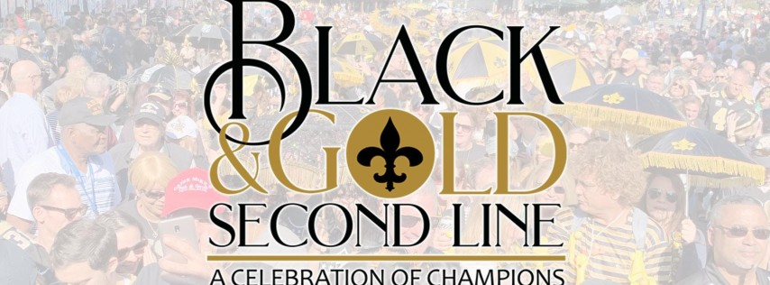 Black & Gold Second Line Parade - New Orleans