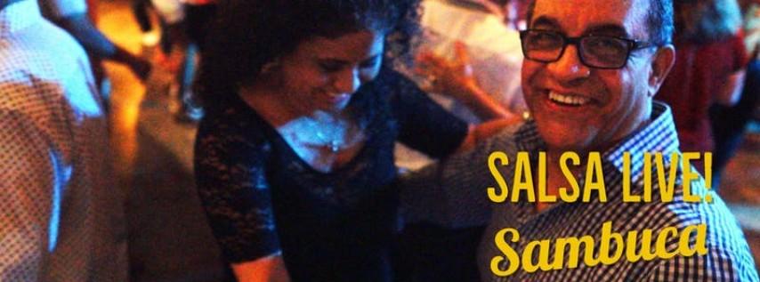 Free Salsa & Bachata Party with Live Music by Salmerun at Sambuca 08/29