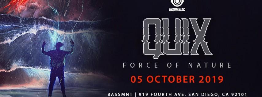 QUIX at Bassmnt Saturday 10/5