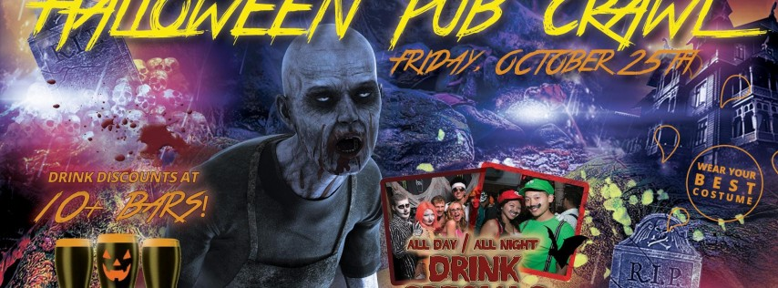 PACIFIC BEACH FRIDAY HALLOWEEN PUB CRAWL - OCT 25th