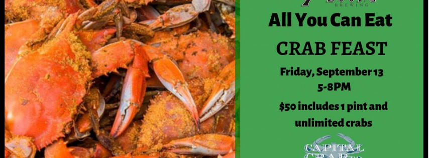 All You Can Eat Crab Feast at 7 Locks Brewing