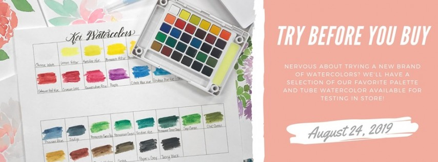 Try Before You Buy: Watercolors