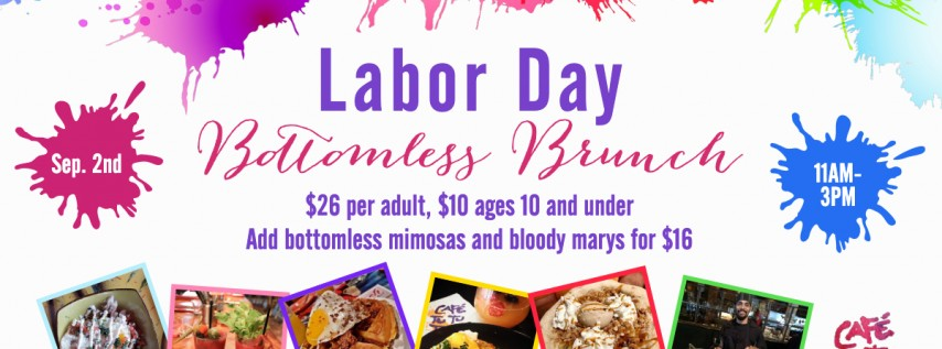 Labor Day Bottomless Brunch at Cafe Tu Tu Tango