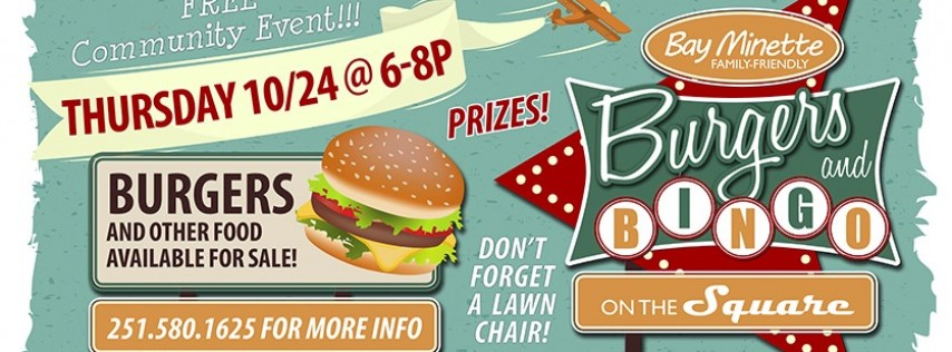 Burgers & Bingo on the Square